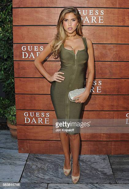 Model Kara Del Toro arrives at GUESS Dare Double Dare Fragrance Launch at Ysabel on July 27 2016 in West Hollywood California