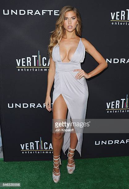 Model Kara Del Toro arrives at the Los Angeles Premiere 'Undrafted' at ArcLight Hollywood on July 11 2016 in Hollywood California