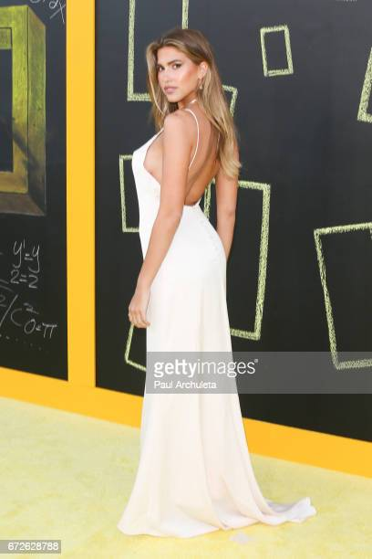 Model Kara Del Toro attends the premiere of National Geographic's 'Genius' at The Fox Bruin Theater on April 24 2017 in Los Angeles California