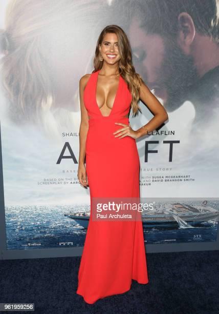 Model Kara Del Toro attends the premiere of STX Films' 'Adrift' at Regal LA Live Stadium 14 on May 23 2018 in Los Angeles California