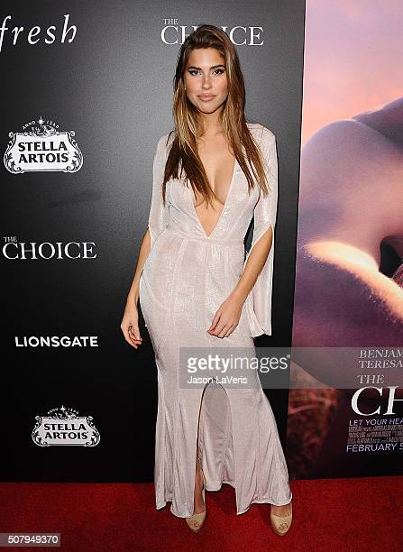 Model Kara Del Toro attends the premiere of The Choice at ArcLight Cinemas on February 1 2016 in Hollywood California