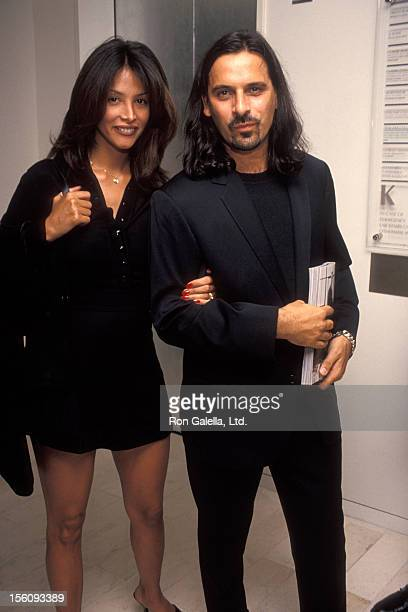 Model Kara Young and boyfriend attend L'Uomo Vogue Celebrates September Issue on September 7 1994 at Barney's in New York City