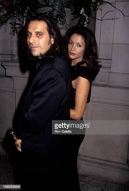 Model Kara Young and boyfriend attend Metropolitan Museum of Art Costume Institute Gala on December 5 1994 at the Metropolitan Museum of Art in New...