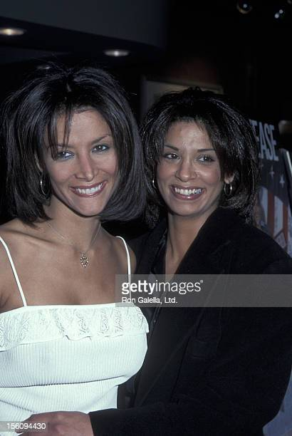 Model Kara Young and sister attend the screening of 'The Big Tease' on January 27 2000 at the Chelsea Restaurant in New York City