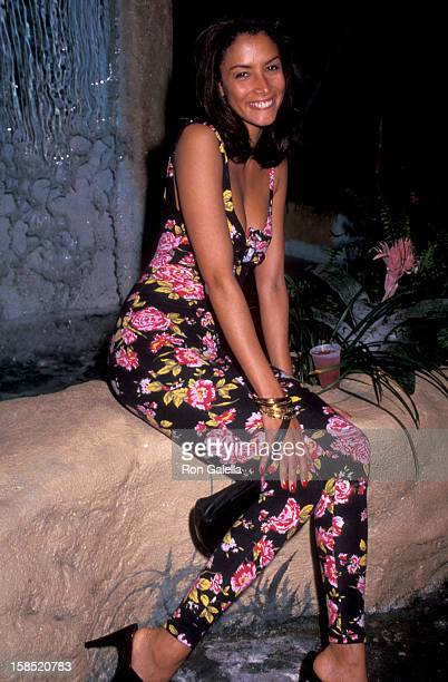 Model Kara Young attends Don't Bungle the Jungle II Benefit on May 18 1992 at the Amazon Village in New York City
