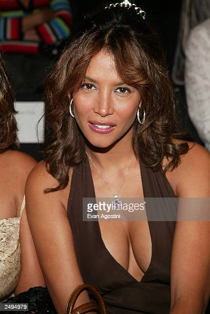 Model Kara Young attends the Luca Luca Spring/Summer 2004 Fashion Show during MercedesBenz Fashion Week at Bryant Park September 14 2003 in New York...