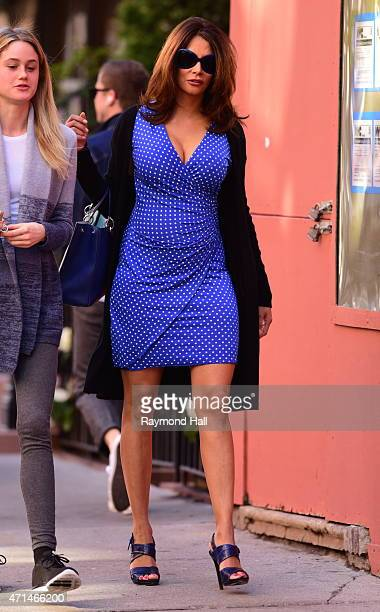 Model Kara Young is seen walking in Soho on April 28 2015 in New York City