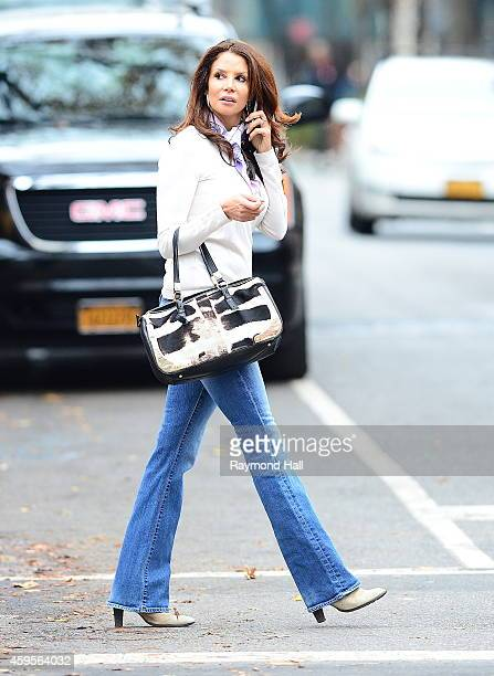 Model Kara Young is seen walking in Soho on November 25 2014 in New York City
