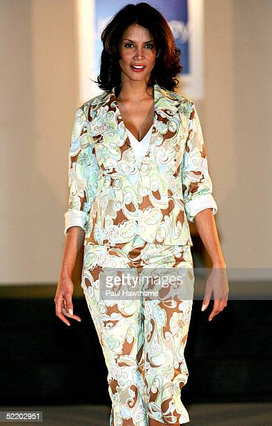 Model Kara Young walks the runway as JC Penny launches Nicole by Nicole Miller at The Four Seasons February 15 2005 in New York City