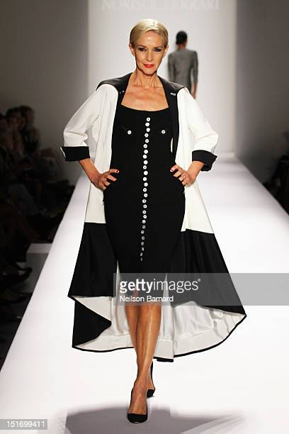 Model Karen Bjornson walks the runway at the Norisol Ferrari Spring 2013 fashion show during MercedesBenz Fashion Week at The Studio at Lincoln...