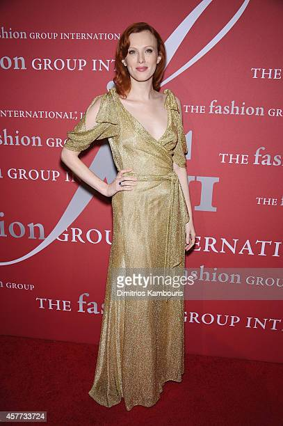 Model Karen Elson attends the 31st Annual FGI Night of Stars event at Cipriani Wall Street on October 23 2014 in New York City