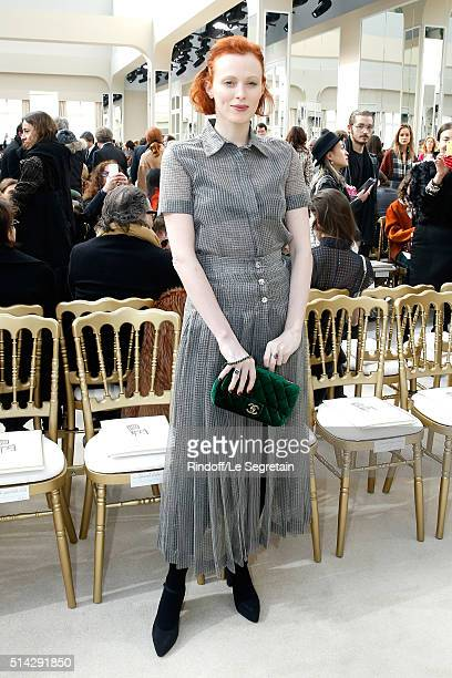 Model Karen Elson attends the Chanel show as part of the Paris Fashion Week Womenswear Fall/Winter 2016/2017 on March 8 2016 in Paris France
