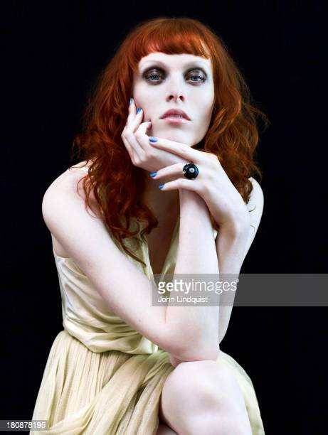Model Karen Elson is photographed for ES magazine on April 26 2010 in London England