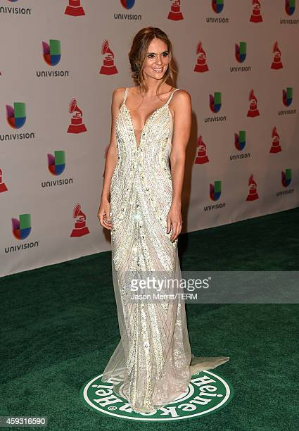 Model Karen Martinez attends the 15th Annual Latin GRAMMY Awards at the MGM Grand Garden Arena on November 20 2014 in Las Vegas Nevada
