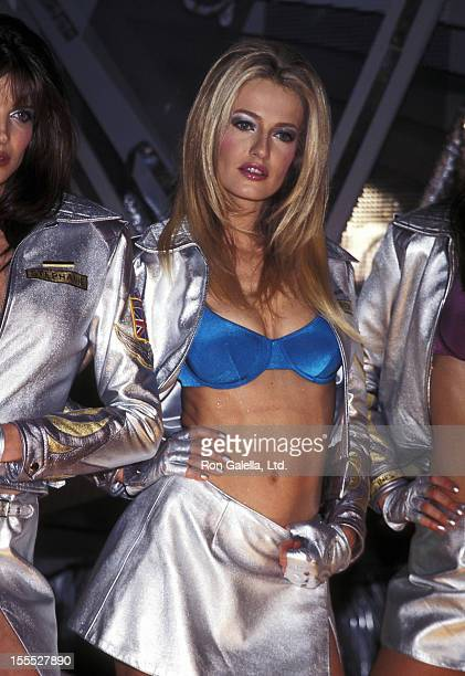 Model Karen Mulder attends the Victoria's Secret Press Conference to Announce the Launch of New Lingerie Line Angels 2000 on May 7 1998 at the Sony...