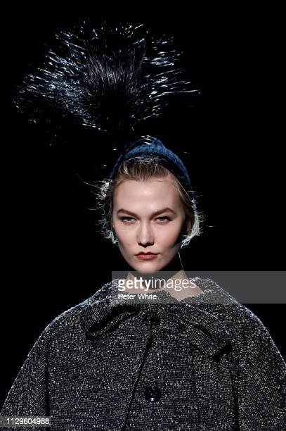 Model Karlie Kloss accessories detail walks the runway at the Marc Jacobs fashion show during New York Fashion Week on February 13 2019 in New York...