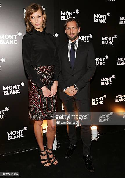 Model Karlie Kloss and actor Josh Lucas attend Montblanc celebrates Madison Avenue Boutique Opening at Montblanc Boutique on Madison Avenue on...