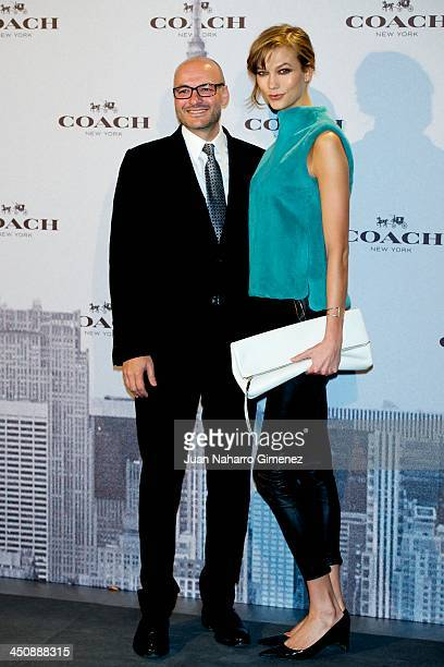 Model Karlie Kloss and Chief Executive Officer of Coach Victor Luis attend the Coach Boutique opening on November 20 2013 in Madrid Spain