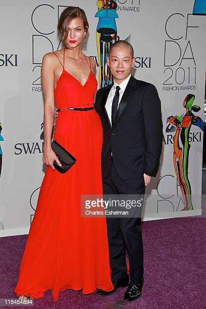 Model Karlie Kloss and designer Jason Wu attend the 2011 CFDA Fashion Awards at Alice Tully Hall, Lincoln Center on June 6, 2011 in New York City.