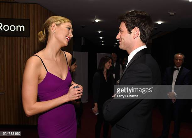 Model Karlie Kloss and Gael Garc��a Bernal attend 2016 Time 100 Gala Time's Most Influential People In The World Cocktails at Jazz At Lincoln Center...