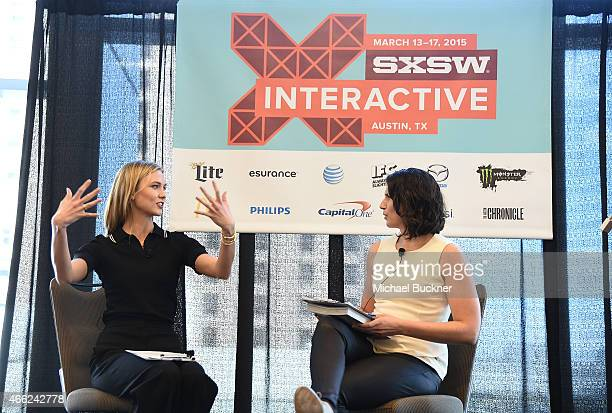 Model Karlie Kloss and Sara Wilson head of Strategic Partnerships Fashion Lifestyle for Facebook/Instgram speak at the panel for SXSWStyle How...
