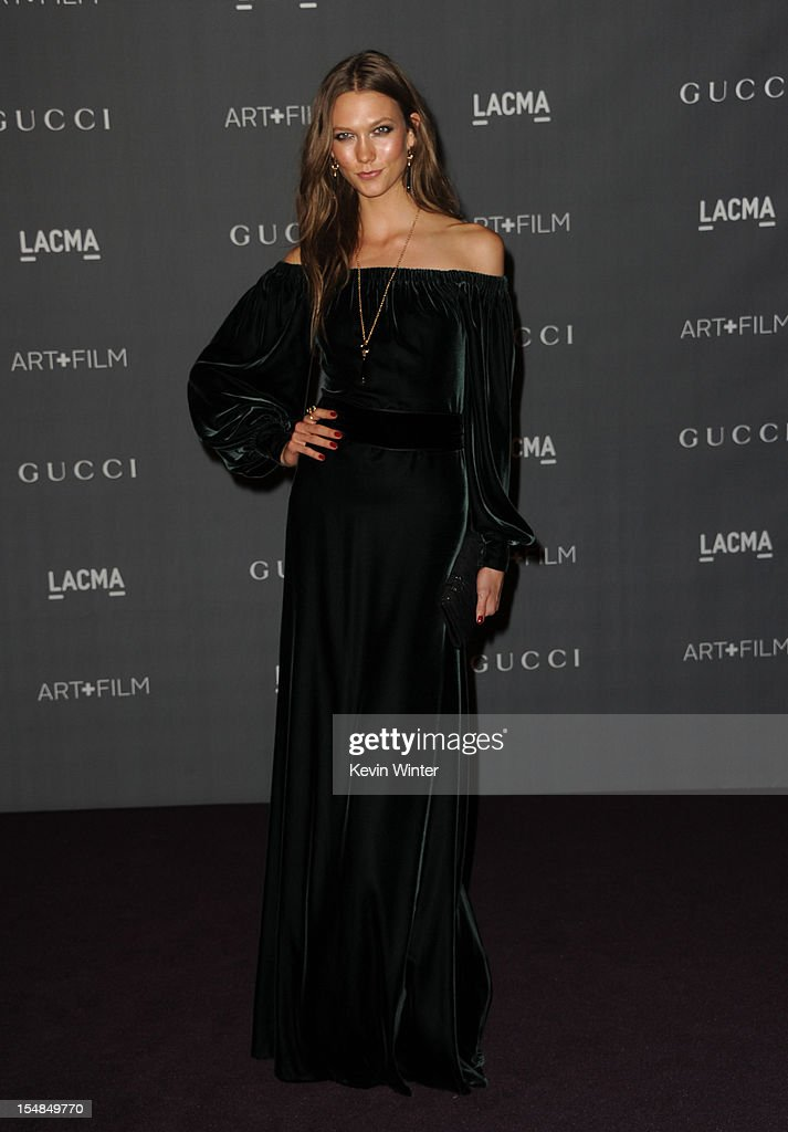 Model Karlie Kloss arrives at LACMA 2012 Art + Film Gala at LACMA on October 27, 2012 in Los Angeles, California.