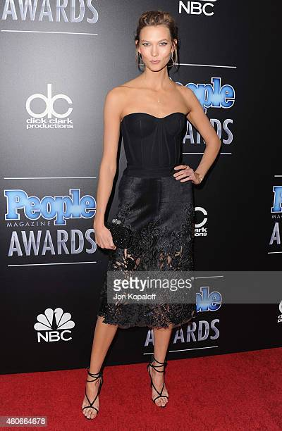 Model Karlie Kloss arrives at The PEOPLE Magazine Awards at The Beverly Hilton Hotel on December 18, 2014 in Beverly Hills, California.