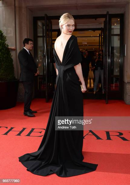 Model Karlie Kloss attends as The Mark Hotel celebrates the 2018 Met Gala at The Mark Hotel on May 7 2018 in New York City
