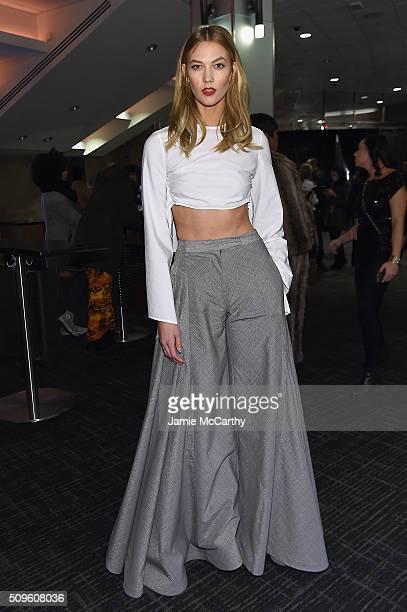 Model Karlie Kloss attends Kanye West Yeezy Season 3 on February 11 2016 in New York City