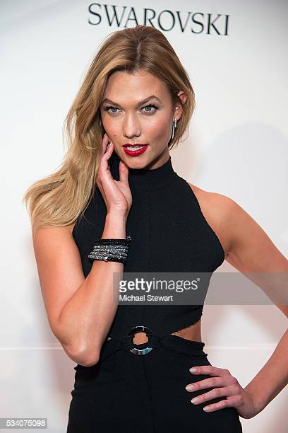 Model Karlie Kloss attends Swarovski #bebrilliant at The Weather Room at Top of the Rock on May 24 2016 in New York City