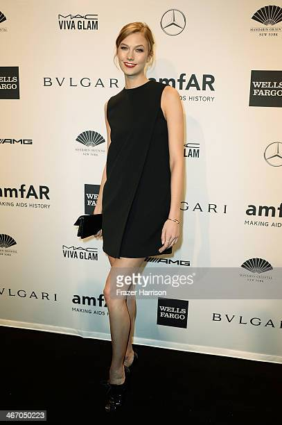 Model Karlie Kloss attends the 2014 amfAR New York Gala at Cipriani Wall Street on February 5 2014 in New York City