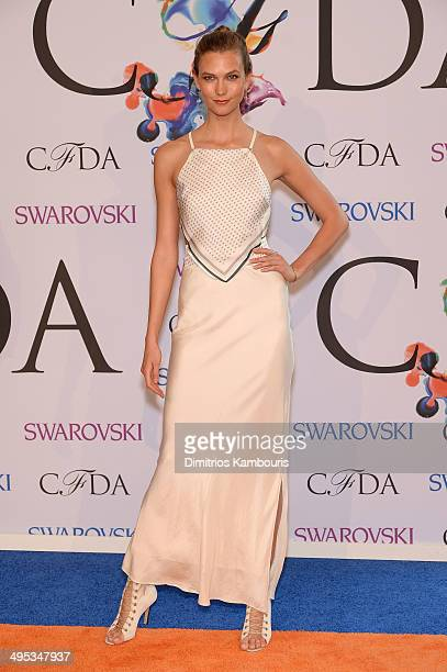 Model Karlie Kloss attends the 2014 CFDA fashion awards at Alice Tully Hall Lincoln Center on June 2 2014 in New York City