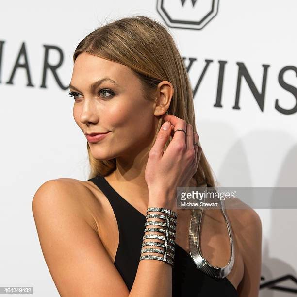 Model Karlie Kloss attends the 2015 amfAR New York Gala at Cipriani Wall Street on February 11 2015 in New York City