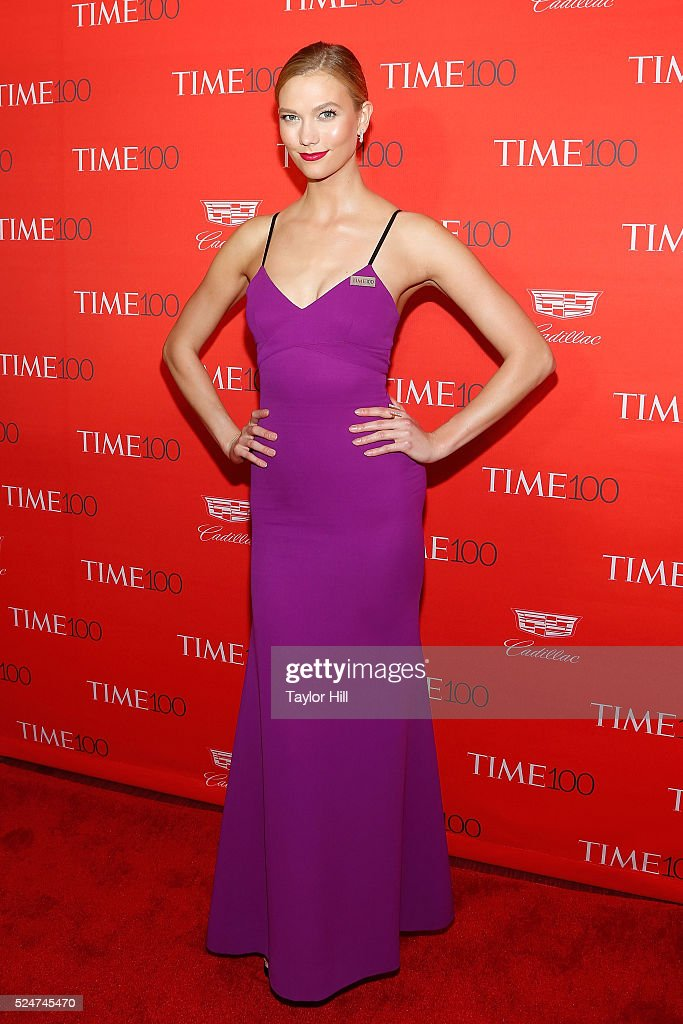 Model Karlie Kloss attends the 2016 Time 100 Gala at Frederick P. Rose Hall, Jazz at Lincoln Center on April 26, 2016 in New York City.