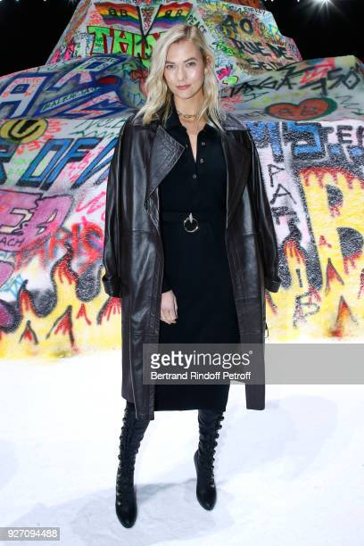 Model Karlie Kloss attends the Balenciaga show as part of the Paris Fashion Week Womenswear Fall/Winter 2018/2019 on March 4 2018 in Paris France