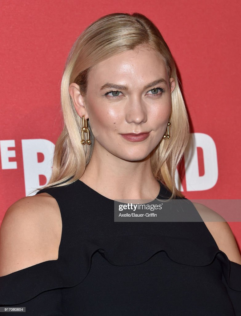Model Karlie Kloss attends The Broad and Louis Vuitton celebrating Jasper Johns: 'Something Resembling Truth' at The Broad on February 8, 2018 in Los Angeles, California.