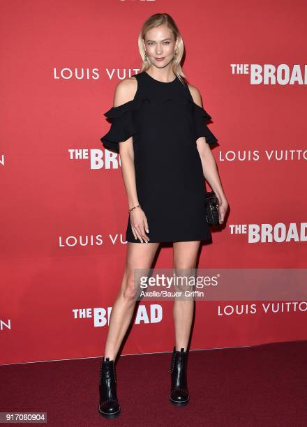 Model Karlie Kloss attends The Broad and Louis Vuitton celebrating Jasper Johns 'Something Resembling Truth' at The Broad on February 8 2018 in Los...