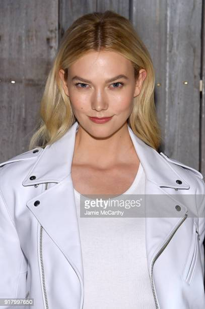 Model Karlie Kloss attends the Calvin Klein Collection during New York Fashion Week at New York Stock Exchange on February 13 2018 in New York City