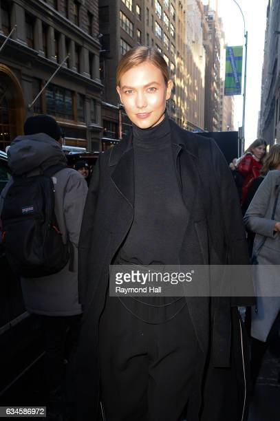 Model Karlie Kloss attends the Calvin Klein Collection Front Row during New York Fashion Week on February 10 2017 in New York City