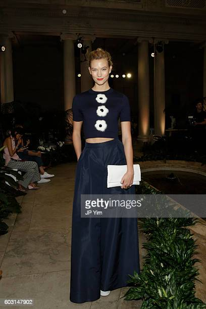Model Karlie Kloss attends the Carolina Herrera fashion show during New York Fashion Week on September 12 2016 in New York City