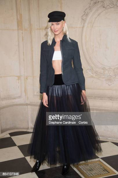 Model Karlie Kloss attends the Christian Dior show as part of the Paris Fashion Week Womenswear Spring/Summer 2018 at on September 26 2017 in Paris...