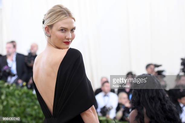 Model Karlie Kloss attends the Heavenly Bodies Fashion The Catholic Imagination Costume Institute Gala at The Metropolitan Museum of Art on May 7...