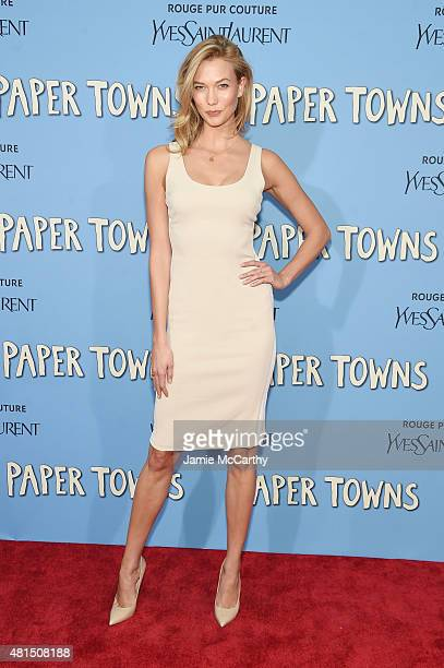 Model Karlie Kloss attends the New York premiere of Paper Towns at AMC Loews Lincoln Square on July 21 2015 in New York City