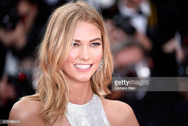 Model Karlie Kloss attends the opening ceremony and premiere of 'La Tete Haute' during the 68th annual Cannes Film Festival on May 13 2015 in Cannes...
