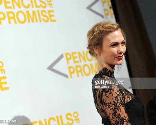 Model Karlie Kloss attends the Pencils Of Promise Gala at Cipriani Wall Street on October 21 2015 in New York City