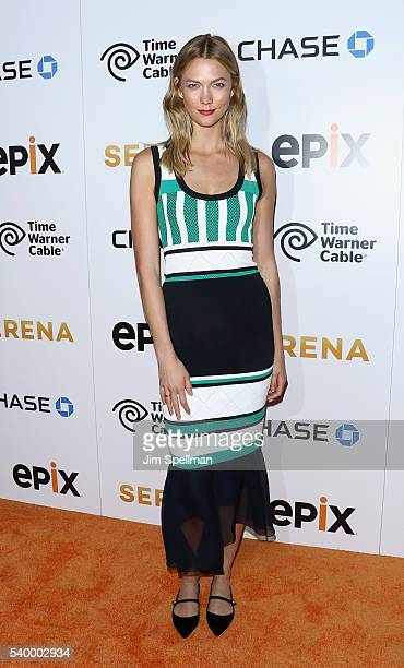 Model Karlie Kloss attends the premiere of EPIX original documentary 'Serena' at SVA Theatre on June 13 2016 in New York City