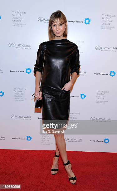 Model Karlie Kloss attends the VIP reception and viewing for The Fashion World of Jean Paul Gaultier From the Sidewalk to the Catwalk at the Brooklyn...