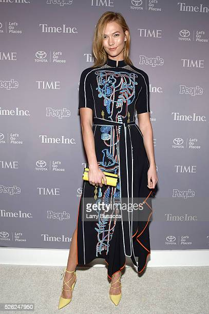 Model Karlie Kloss attends TIME and People's Annual White House Correspondents' Association Cocktail Party at St Regis Hotel on April 29 2016 in...