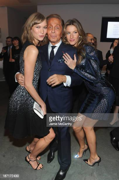 Model Karlie Kloss Designer Valentino and model Gisele Bündchen attend the WSJ Magazine's 'Innovator Of The Year' Awards 2013 at The Museum of Modern...