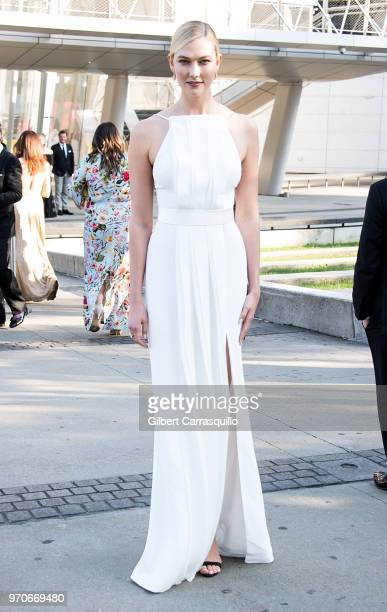 Model Karlie Kloss is seen arriving to the 2018 CFDA Fashion Awards at Brooklyn Museum on June 4 2018 in New York City